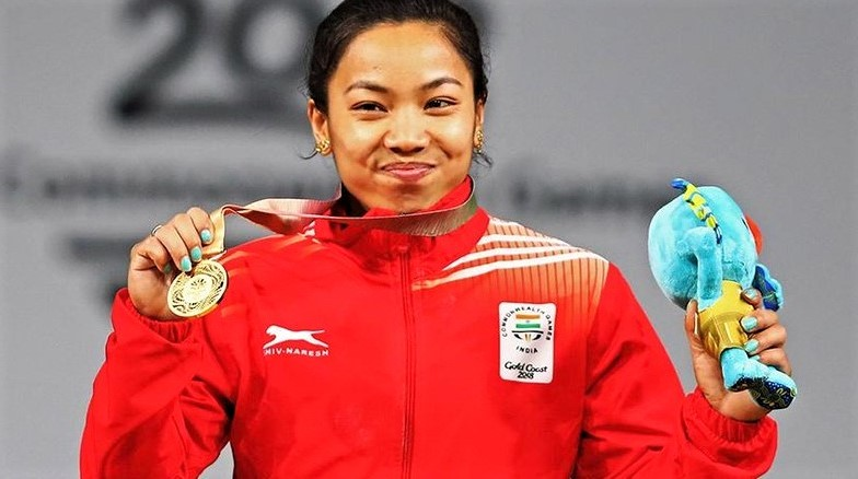 First gold medal in 21th commonwealth gemes Mirabai Chanu