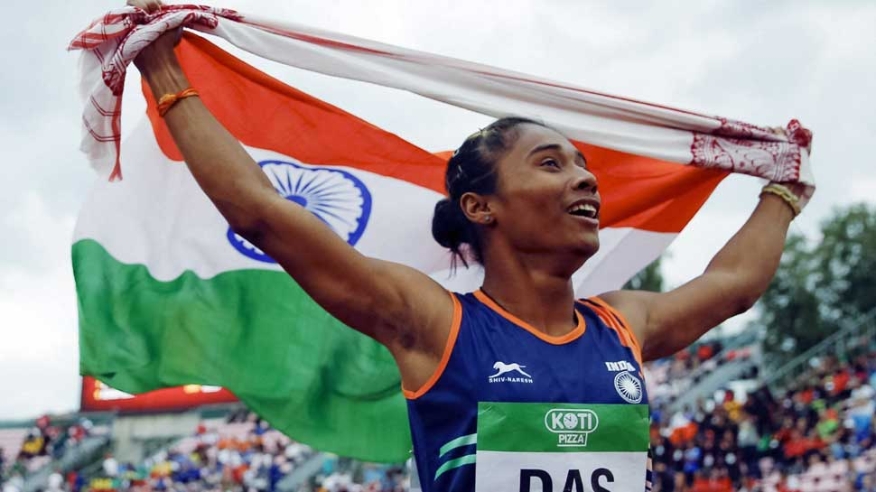 Hima Das won gold medal in 400 metre track word championship